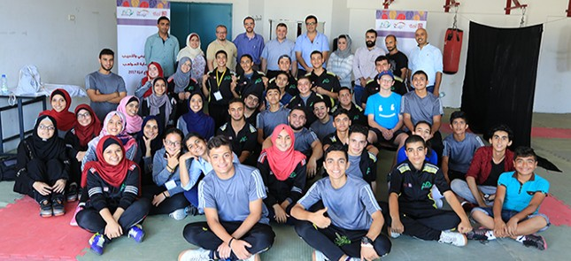 As part of the activities of fostering talents... The Director of Gaza office - of Al Taawon Association - visits the students of the Bridge Program- Palestine 2017