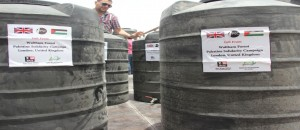 Distribution of water tanks for the benefit of farmers in the northern Gaza Strip