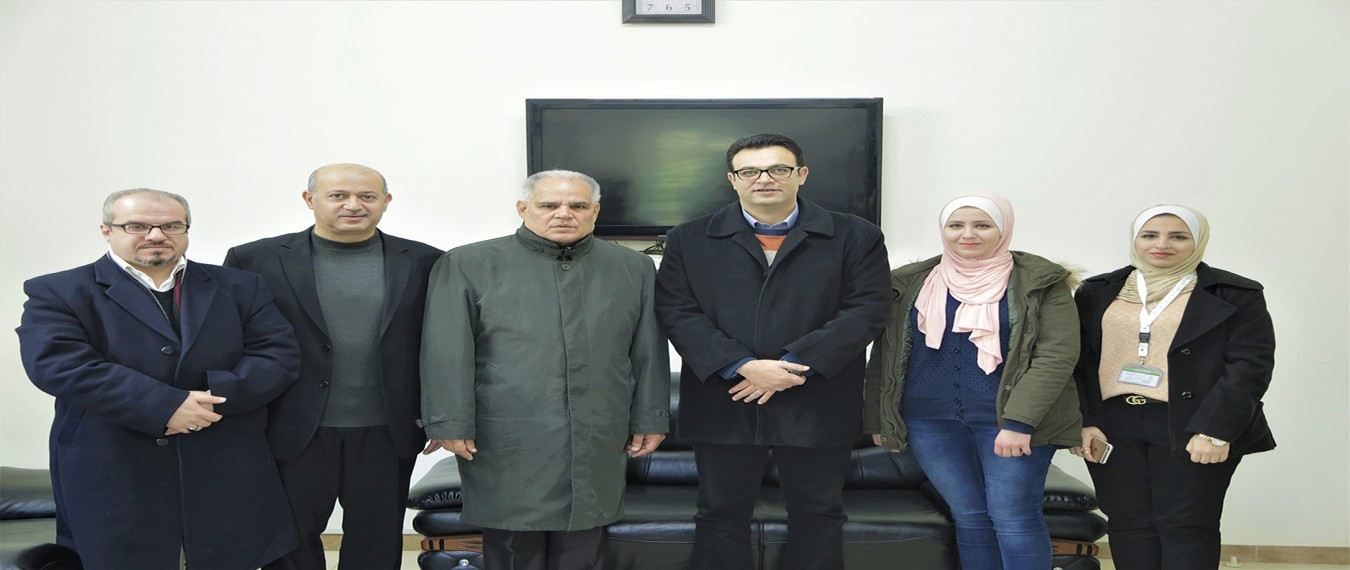 A delegation from Natuf visits the Board of Trustees at Al-Azhar University