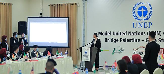 ضمن أنشطة برنامج بريدج فلسطين الفوج الثاني في غزة - اختتام مؤتمر نموذج محاكاة الأمم المتحدة
